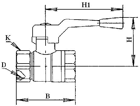 11Б27п кран шаровой латунный газ
